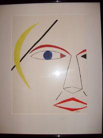 Malerei, Gesicht, Kopf, Portrait