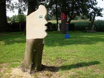 Skulptur, Gesicht, Sandstein, Plastik