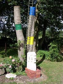 Garten, Skulptur, Baum, Plastik