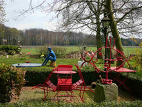 Skulptur, Garten, Plastik
