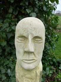 Kopf, Sandstein, Skulptur, Plastik