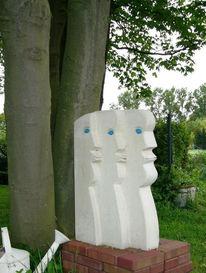 Kopf, Skulptur, Plastik, Wächter