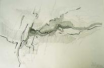 Zeichnung, Tuschmalerei, Gefügke, Zeichnungen