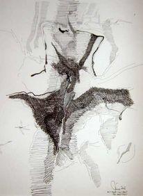 Tod, Schicksal, Tusche, Zeichnungen