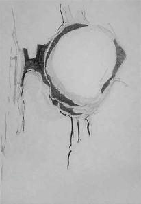 Zeichnung, Augen, Ertrinken, Licht