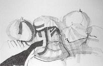 Ausatmen, Atmen, Zeichnungen, Abstrakt