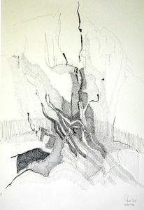 Zeichnung, Fleißt, Bleiben, Abstrakt