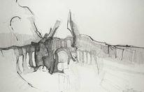 Streichquintett, Adagio, Zeichnungen, Abstrakt