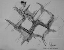 Stillleben, Federzeichnung, Zeichnung, Tastatur