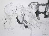 Zeichnung, Gegenstandslos, Herbst, Wein