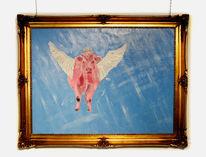 Malerei, Kuh, Tiere