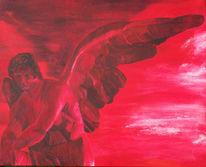 Rot, Engel, Malerei,