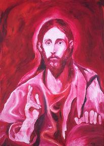 Figural, Malerei, Jesus, Rot