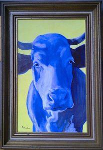 Galerie freiwerk, Acrylmalerei, Kuhblau, Milan art