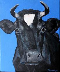 Kuhgemälde, Zeitgenössisch, Gegenwartskunst, Kuhschwarz
