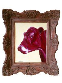 Acrylmalerei, Kuh, Milan art, Bulle stier