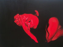 Figural, Akt, Malerei, Rot akt