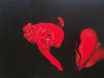Malerei, Rot akt, Rot, Figural