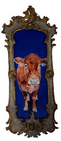 Ölmalerei, Kuh, Zeitgenössische kunst, Bulle