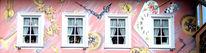 Fassadenwerbung, Wandmalerei, Aussenwerbung, Haus