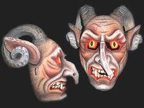 Holz, Holzmaske, Kunsthandwerk, Maske
