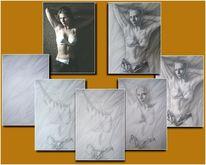 Portraitzeichnung, Zeichnung, Frau, Portrait