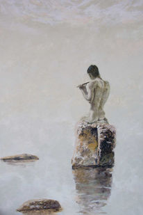 Meer, Malerei, Akt, Figural