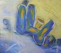 Akt, Figural, Acrylmalerei, Malerei