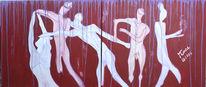 Dynamik, Tanz, Diptychon, Acrylmalerei