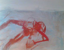 Abstrakt, Knochen, Rauchen, Malerei