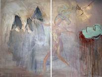 Malerei, Abstrakt, Diptychon