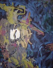 Abstrakt, Malerei, Rauchen, Lunge