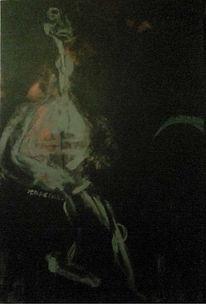Rauchen, Abstrakt, Malerei, Tod