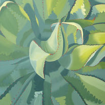 Realismus, Flora, Agaven, Malerei