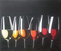 Kontrast, Glas, Schwarz, Stillleben