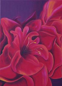 Malerei, Blumen, Garten, Stauden