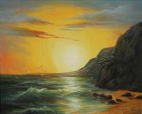 Strand, Landschaft, Malerei