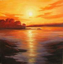 Malerei, Sonnenuntergang, Landschaft
