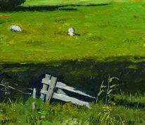 Malerei, Landschaft, Gemälde