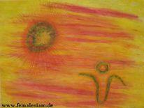 Pastellmalerei, Malerei, Abstrakt, Tag