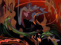 Abstrakt, Farben, Licht, Digital