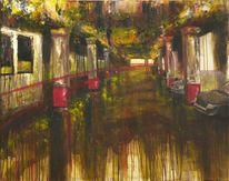 Licht, Luxemburg, Acrylmalerei, Rot