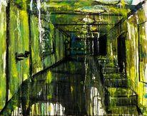 Acrylmalerei, Treppe, Malerei, Innsbruck