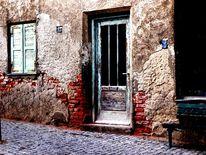 Architektur, Stadt, Tür, Ziegelstein