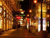 Licht, Bunt, Nacht, Fußgängerzone