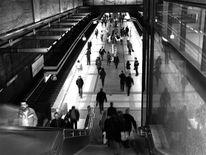 Menschen, Fotografie, Spiegelung, Rolltreppe