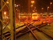 Dunkel, Gleis, Hauptbahnhof, Fotografie