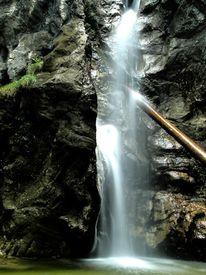 Licht, Wasserfall, Wasser, Baumstamm