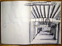 Zeichnung, Edding, Auto, Skizze