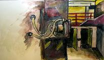 Motor, Schmutzig, Malerei, Acrylmalerei